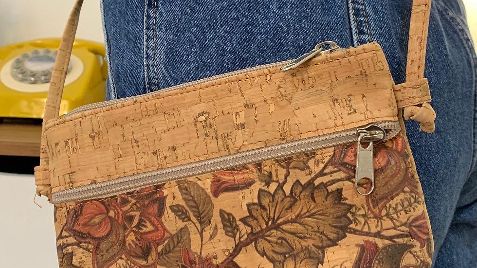 Natural Cork Leaf Handbag/Crossbody