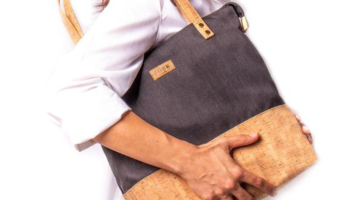 Natural Cork Lg Tote Bag