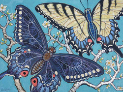 SWALLOWTAILS IN THE ORCHARD  - SOLD
