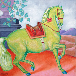GREEN BAROQUE HORSE FOR SALE