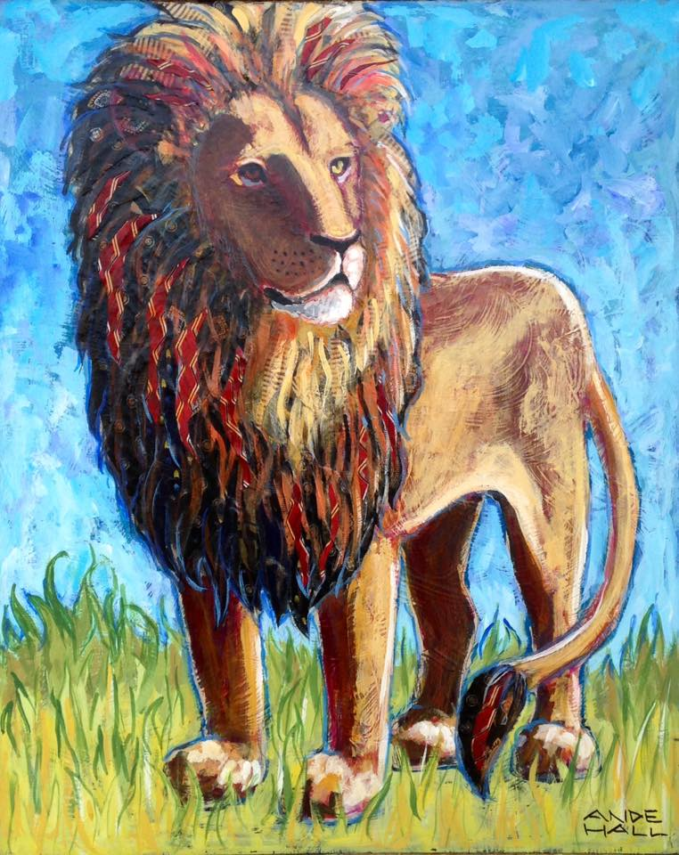 melinda christmas commissions- lion