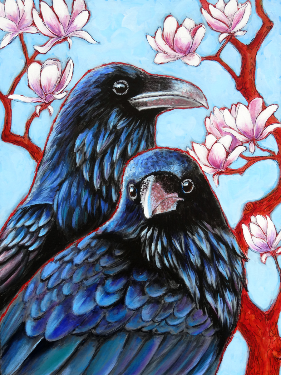 RAVENS AND MAGNOLIAS - sold