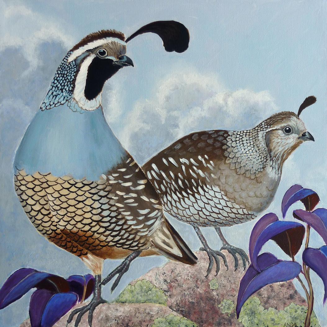 acrylic quail finished int
