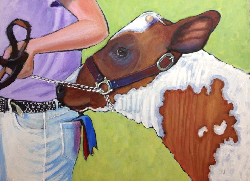 ayrshire show heifer 18x24