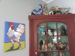 rooster on Carrie quimby's wall