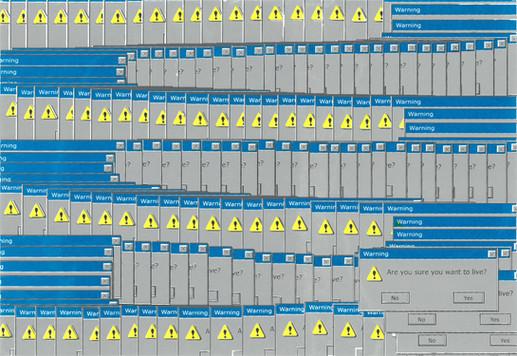 """95/98"", 2015, screenprint"