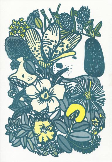"""In the Garden"", 2018, risograph"