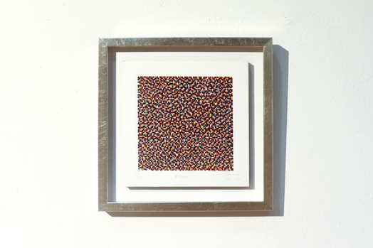 """Block"", 2016, oil-based woodcut"