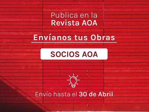 Envíanos tus obras nuevas hasta el 30 de abril - SOCIOS AOA