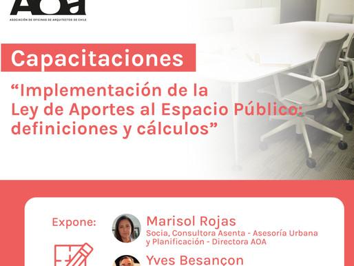 Capacitaciones AOA analiza el impacto de la Ley de Aportes al Espacio Público