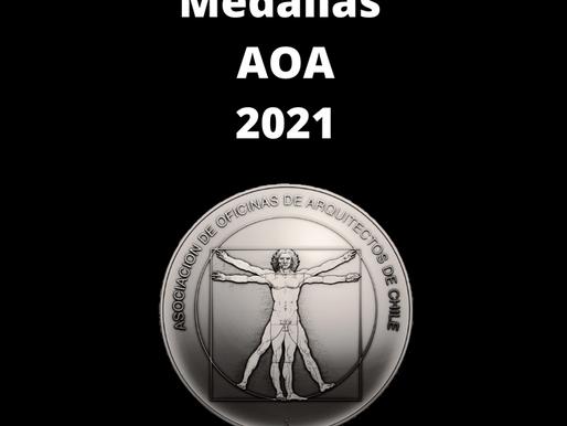 Medallas AOA 2021 fueron entregadas a profesionales destacados de la arquitectura nacional