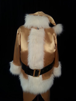 costume de Père-Noel or