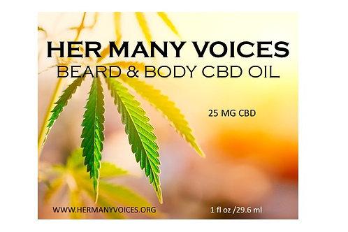 Beard and Body Oil, 20mg CBD