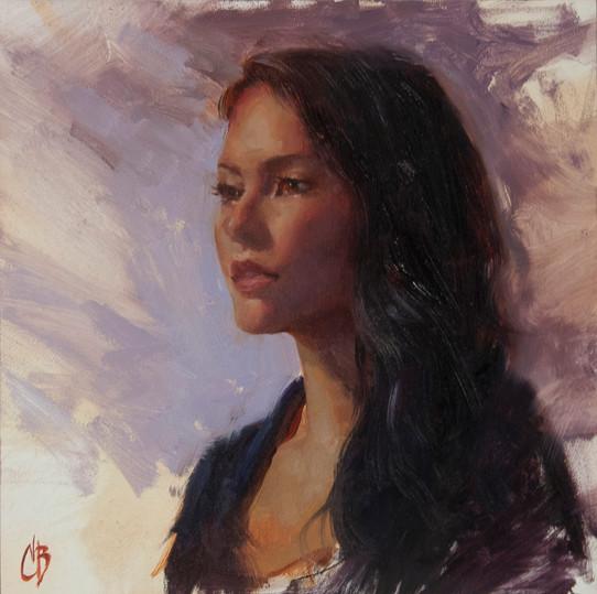 """Portrait in Violet"""
