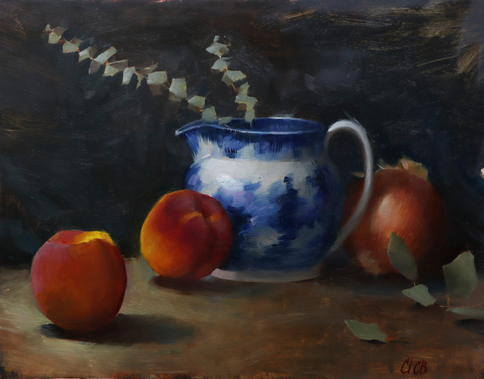 """""""Peaches and Blue China"""""""