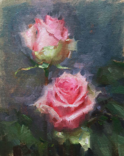 """Pink Rose Study"""