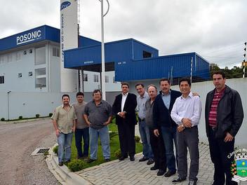 Serginho visita a empresa Posonic do Brasil