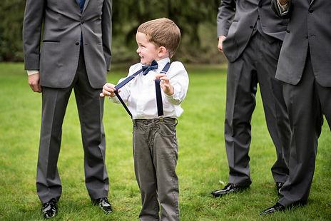 Cute Ring Bearer at a beautiful fall wedding in Pittsburgh PA