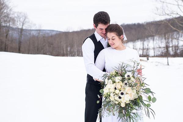 Winter Wonderland Wedding in the hills of Central Pennsylvania