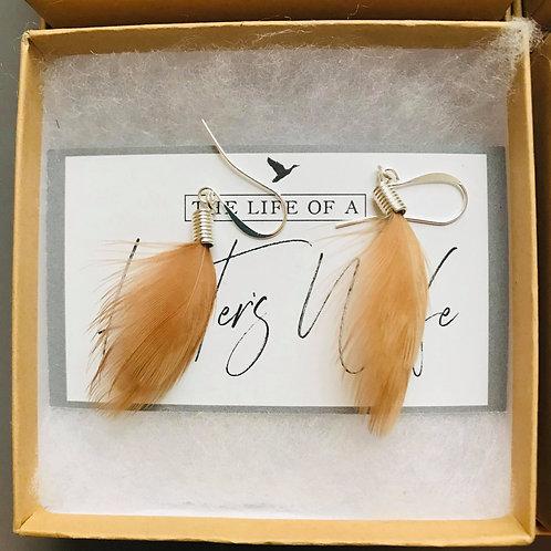 Flowing Woodcock Earrings