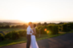 Golden hour wedding in the Shenandoah Valley