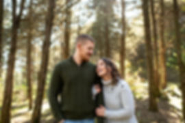 Woodsy fall engagement session in Harrisonburg, VA