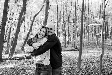 Woodsy engagement session in Central Pennsylvania