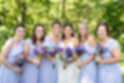 Beautiful bride tribe rocking lavender at this summer wedding in Williamsburg, PA