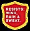 Resists Wind, Rain, and Sweat.