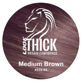 Look Thick Medium Brown Hair and Beard Color Sticker