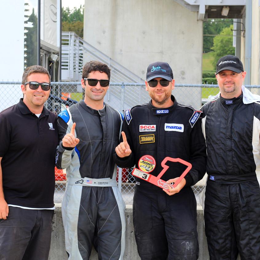 (Left to right) Casey Carden, Hunter Cestoni, Simon Tibbett, and Jason Workman.