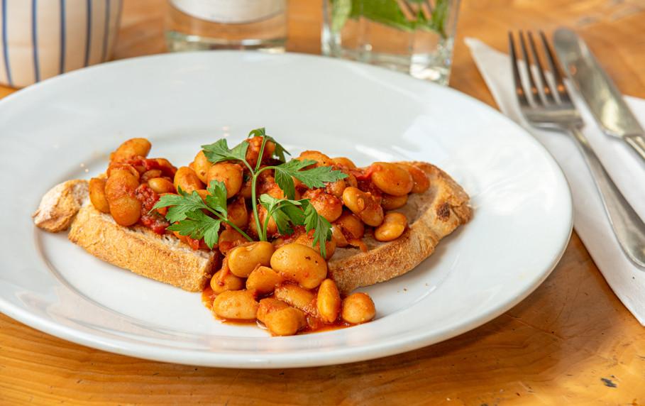 Large beans on Toast