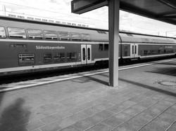 Between the train