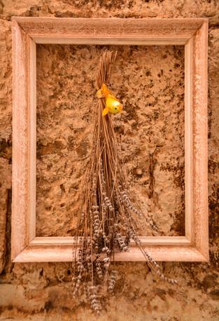 Street Wall Art Framed Dry flower