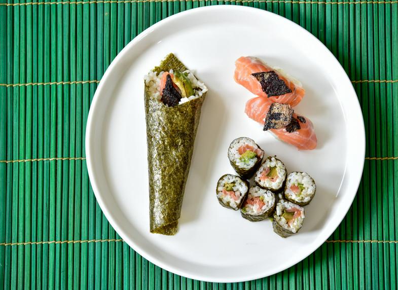 Sushi set during lockdown