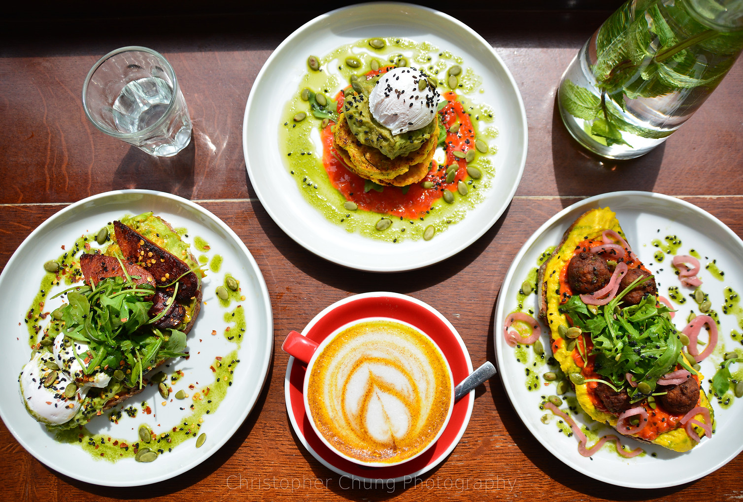 Hero shot of a number of popular dishes