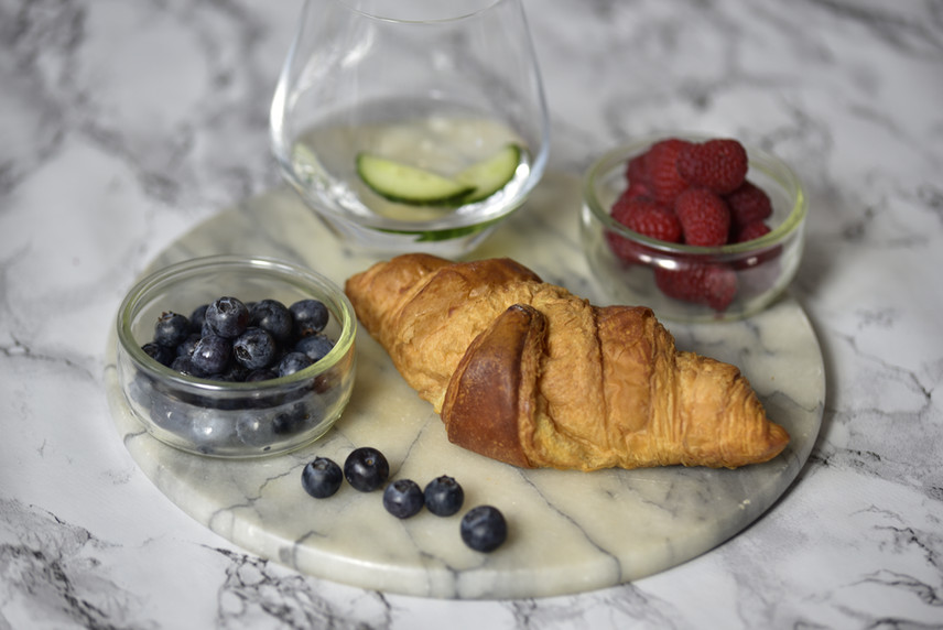 Blueberry, Raspberry and croissant
