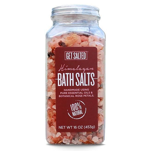 Himalayan Bath Salt with Essential Oils & Botanical Rose Petals