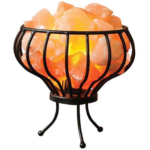 Himalayan Salt Lamp Basket with Chunks - Small