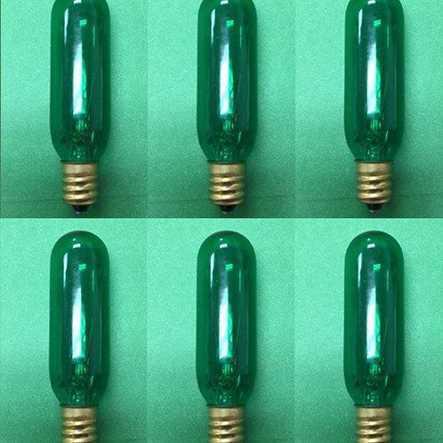 Himalayan Salt Bulb 15W Green 6 Units