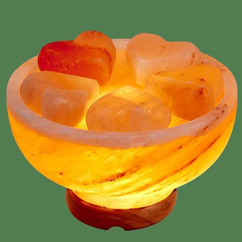 Himalayan Salt Massage Stone Warmer with 5 Heart stones