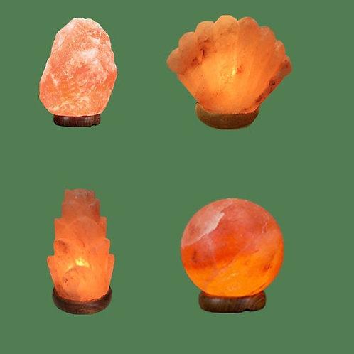 Himalayan Salt Lamps 1 Micro + 1 Seashell + 1 Flower + 1 Sphere