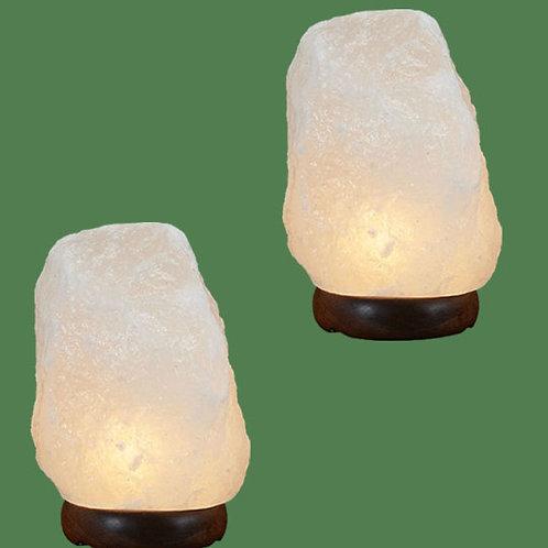 Himalayan Salt Lamp Natural White Med II (2)