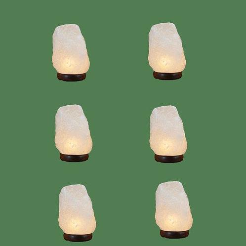 Himalayan Salt Lamp Natural White Micro 6 units (3-5 lbs each)
