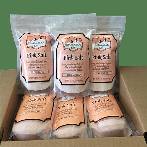 Himalayan Gourmet Salt Pink Fine 500g - 24 bags