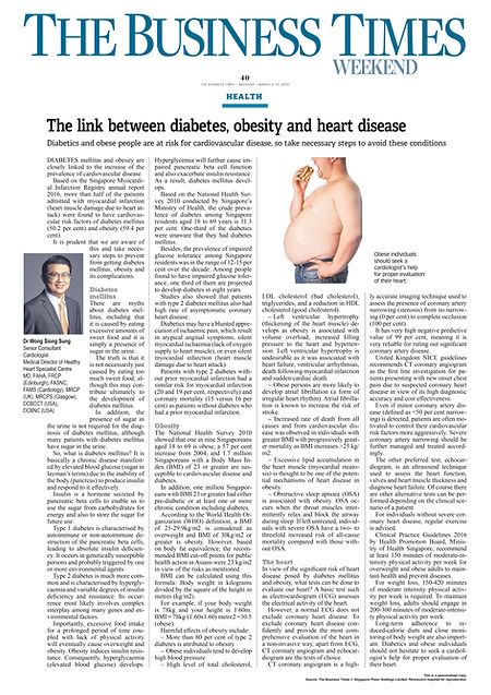 The Link between Diabetes, Obesity and H