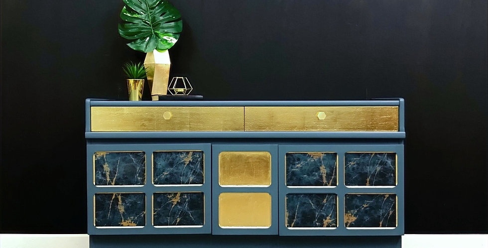 Isaac Nathan Sideboard with Drinks Cabinet and Record Storage