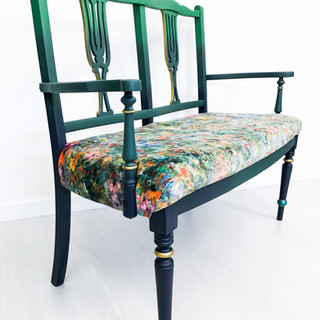 Painted Peacock Gossip Bench