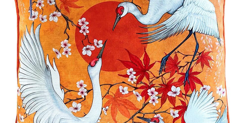 """Lotus Cranes17""""x17"""" Cushions"""