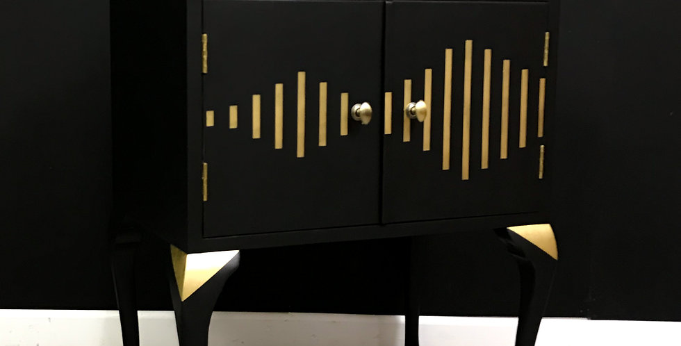 Salvador Sound Wave Record Cabinet